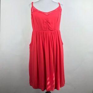Torrid Women's Coral spaghetti strap Dress Size 1